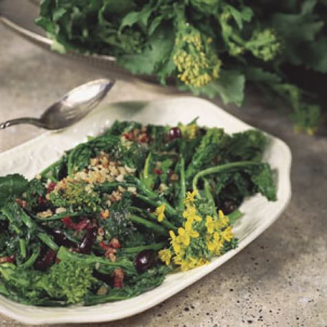 Broccoli Rabe with Pancetta and Kalamata Olives