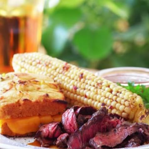 Grilled Corn with Fresh Cheese and Paprika