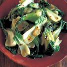 Wok-Seared Baby Bok Choy with Chili Oil and Garlic