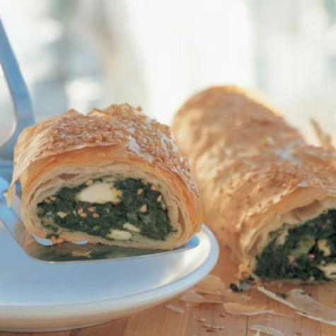 Spinach-Feta Filo Roll