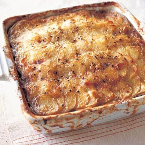 Mushroom and Potato Gratin with Thyme and Parmesan