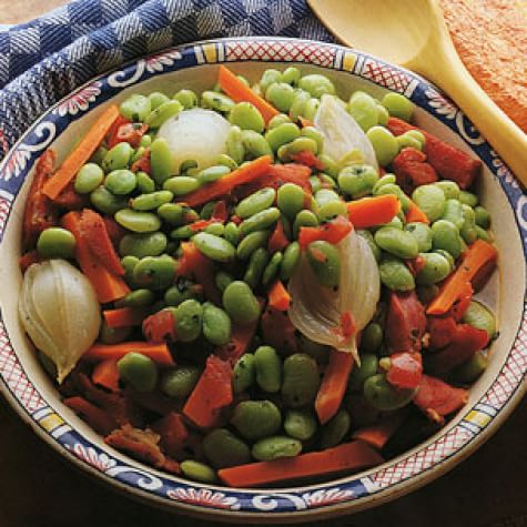 Lima Beans with Ham
