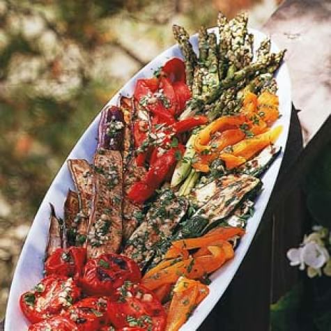Grilled Vegetable Platter with Picnic Vinaigrette