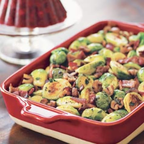 Roasted Brussels Sprouts with Bacon and Chestnuts | Williams Sonoma