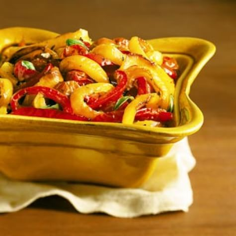 Bell Peppers Baked with Tomatoes