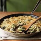 Brussels Sprouts Gratin with Caramelized Shallots