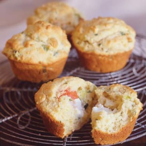 Tomato and Goat Cheese Muffins