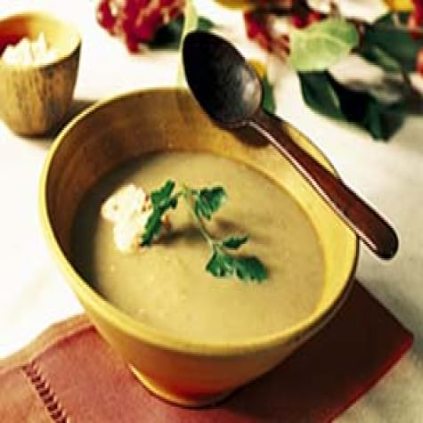 Smoky Eggplant Soup with Red Pepper Cream