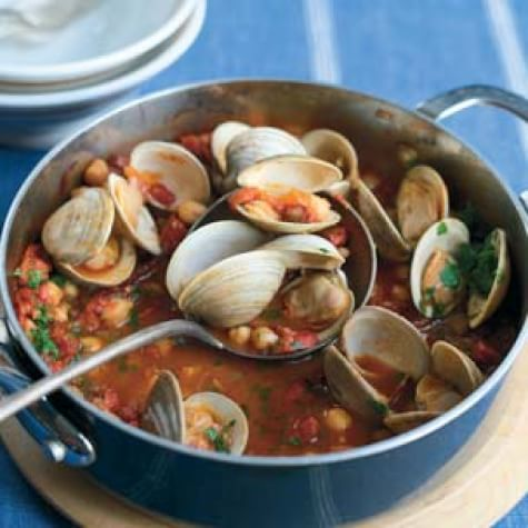 Portuguese Clam and Sausage Stew