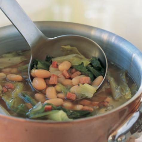 Ham, Bean & Escarole Soup