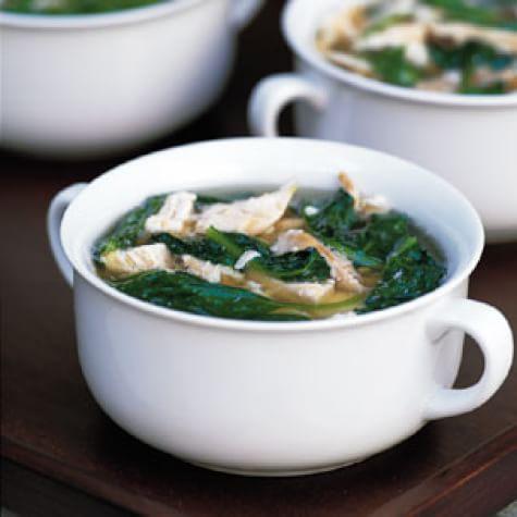 Chicken Stracciatella with Baby Spinach