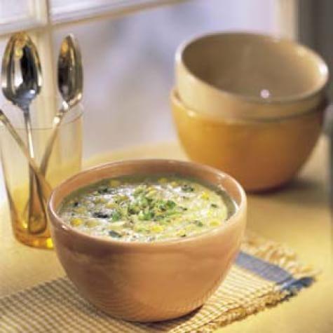 Corn and Roast Poblano Soup