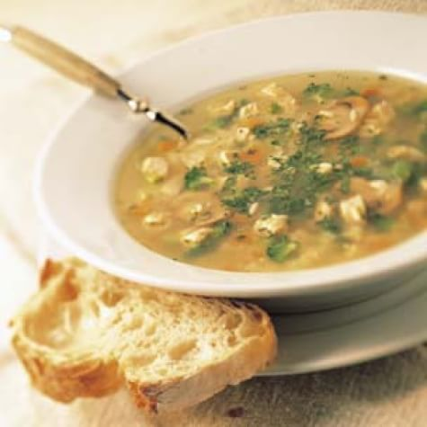 Roast Turkey Vegetable Soup with Rice