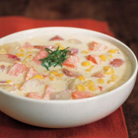 Salmon and Corn Chowder