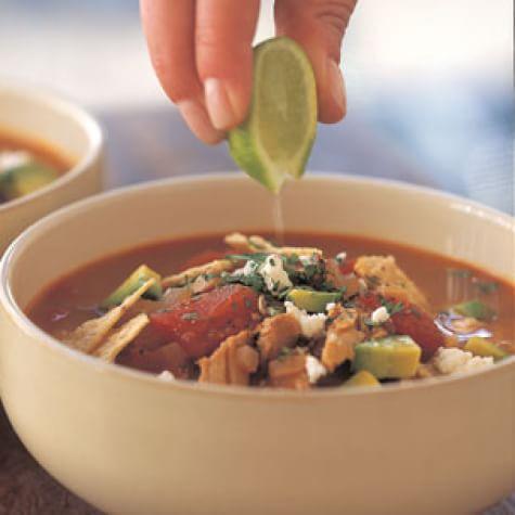 Tortilla Soup with Pork