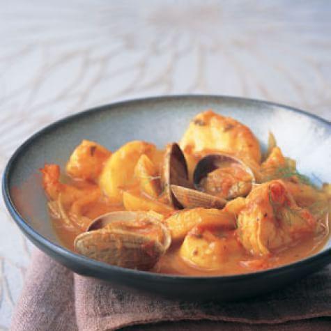 Fish & Shellfish Stew Greek Style