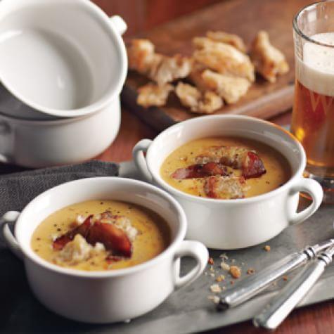 Cheddar-Ale Soup | Williams Sonoma