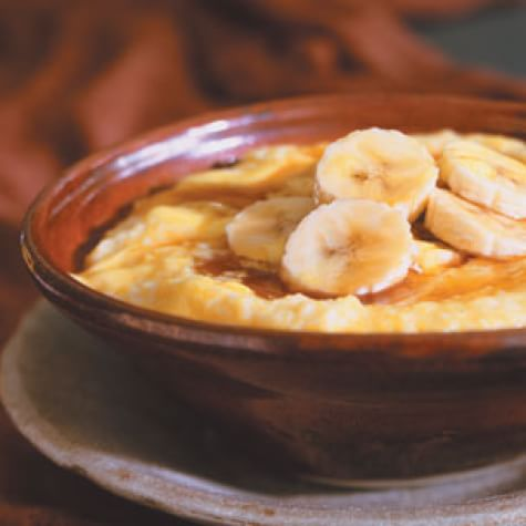 Polentina with Bananas and Maple Syrup
