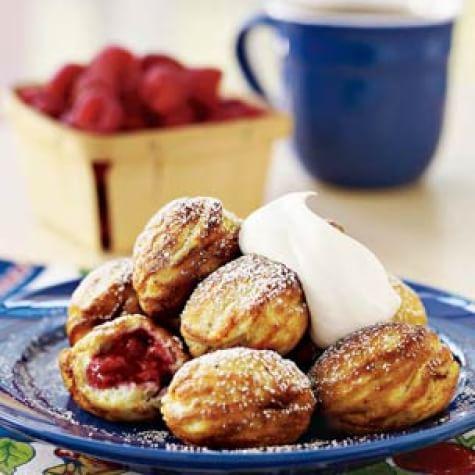 Raspberry-Filled Pancakes