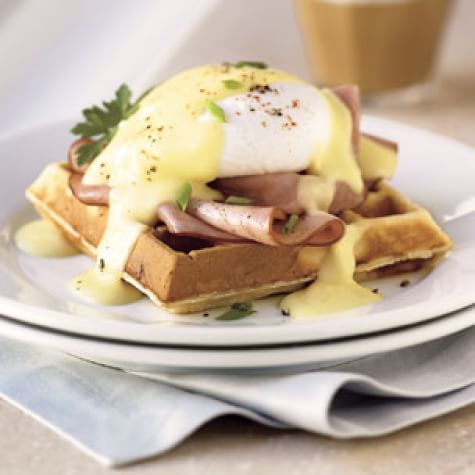 Eggs Benedict on Savory Waffles