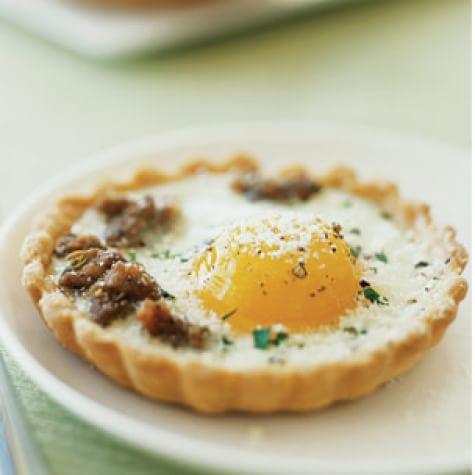 Fennel Sausage and Egg Tartlets