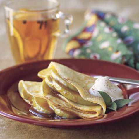 Crepes with Lemon Zabaglione