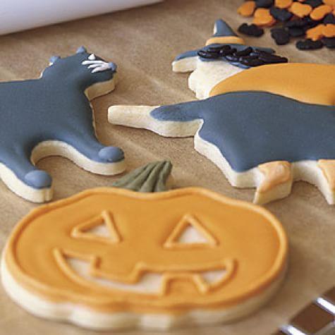 Halloween Cutout Sugar Cookies