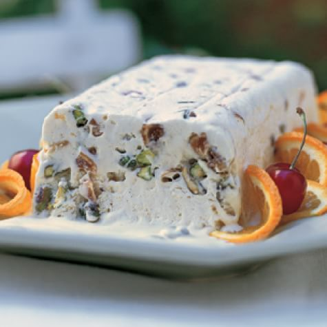 Iced Terrine of Fig and Ginger (Nougat Glacé aux Figues et Gingembre)