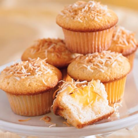 Coconut Cupcakes with Lime Curd Filling