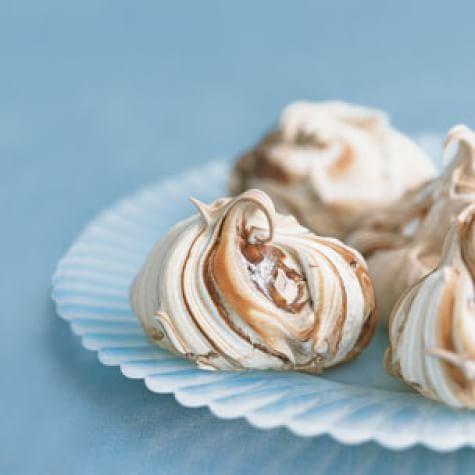 Marbled Chocolate Meringues
