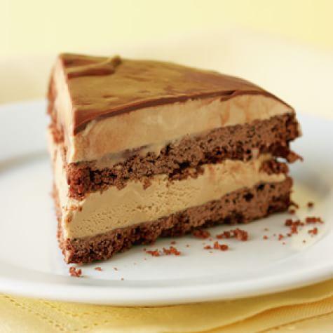 Caramel Ice Cream Cake with Chocolate Ganache