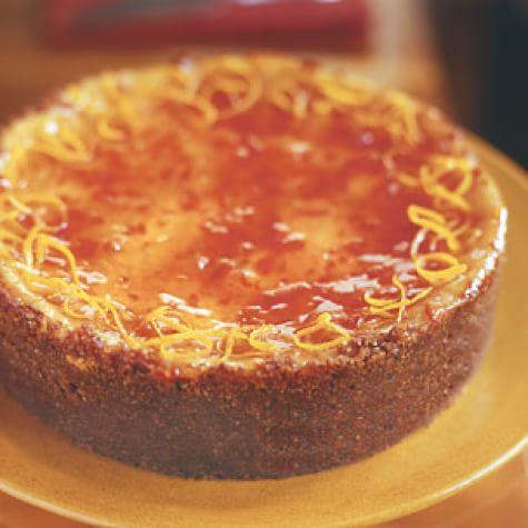Ricotta Cheesecake with Blood Orange Marmalade Glaze