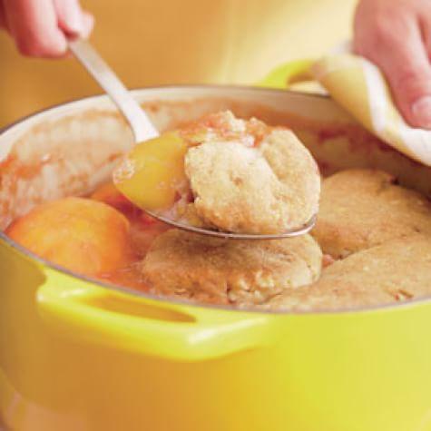 Peach-Almond Cobbler