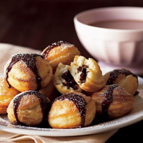 Chocolate-Filled Pancakes