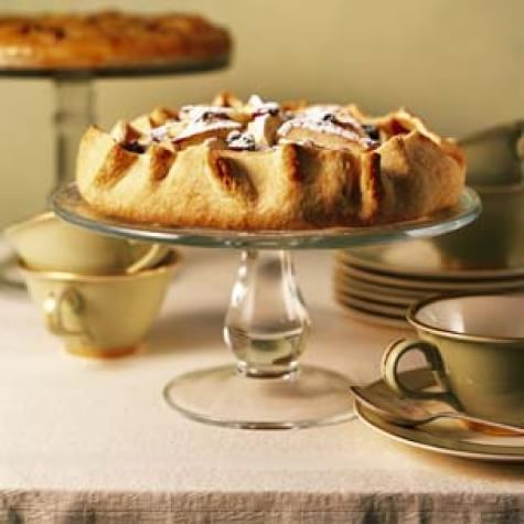 Country-Style Brandied Apple and Dried Cherry Tart