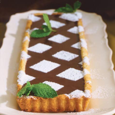 Fresh Mint-Chocolate Truffle Tart