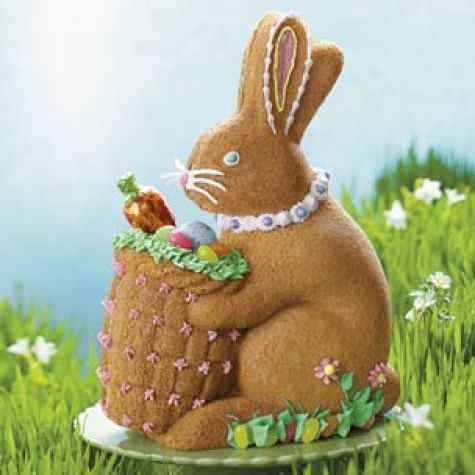 Decorated Bunny with Basket Cake