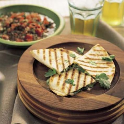 Cheese and Chile Quesadillas