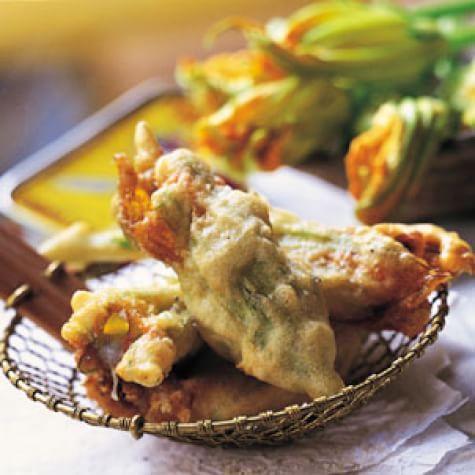 Fried Stuffed Zucchini Flowers (Fiori di Zucca Fritti)