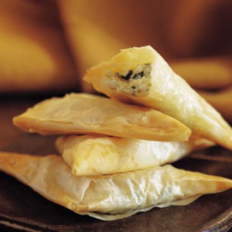 Three-Cheese Filo Triangles