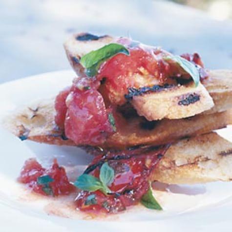 Charred-Tomato Bruschetta