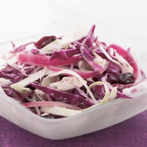 Purple Cabbage Slaw with Raisins