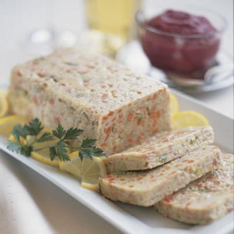 Gefilte Fish Loaf with Beet-Horseradish Cream