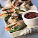 Fresh Spring Rolls with Hoisin-Peanut Dip (Goi Cuon)
