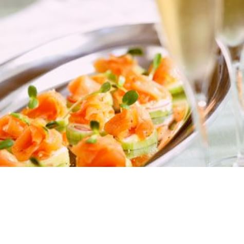 cucumber rounds with smoked salmon and lime aioli cucumber rounds with ...
