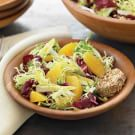 Winter Greens Salad with Oranges & Goat Cheese