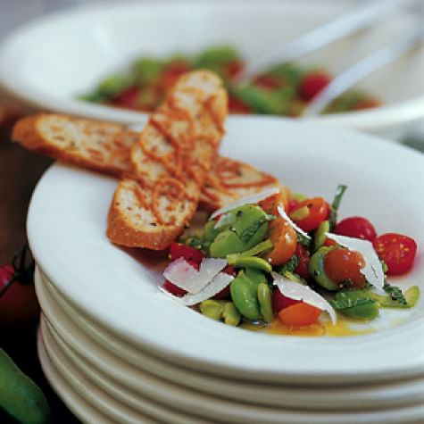 Cherry Tomato and Fava Bean Salad