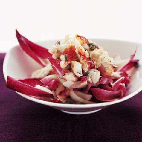 Purple Belgian Endive & Crab Salad