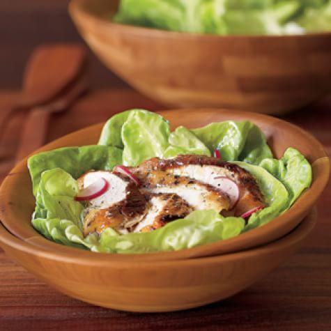 Mustard-Herb Rotisserie Chicken with Green Salad
