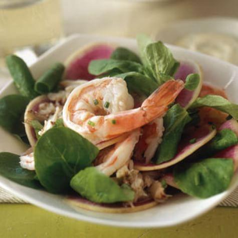 Shrimp and Mâche Salad